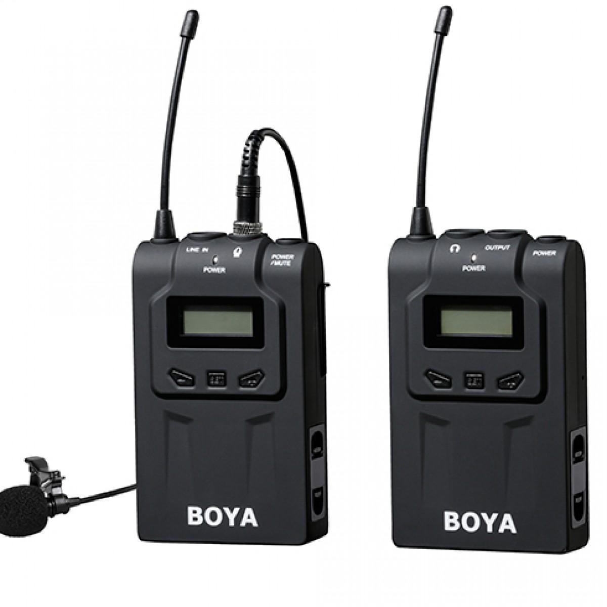 boya-by-wm6-wireless-audio-sender-receiver-lavalier-microphone-100m-range-mic